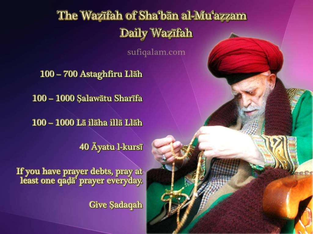 wazifa wird shaban sheikh nazim sufiqalam