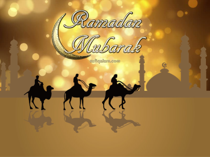 Ramadan Mubarak Greetings Wallpaper Images Bokeh Gold
