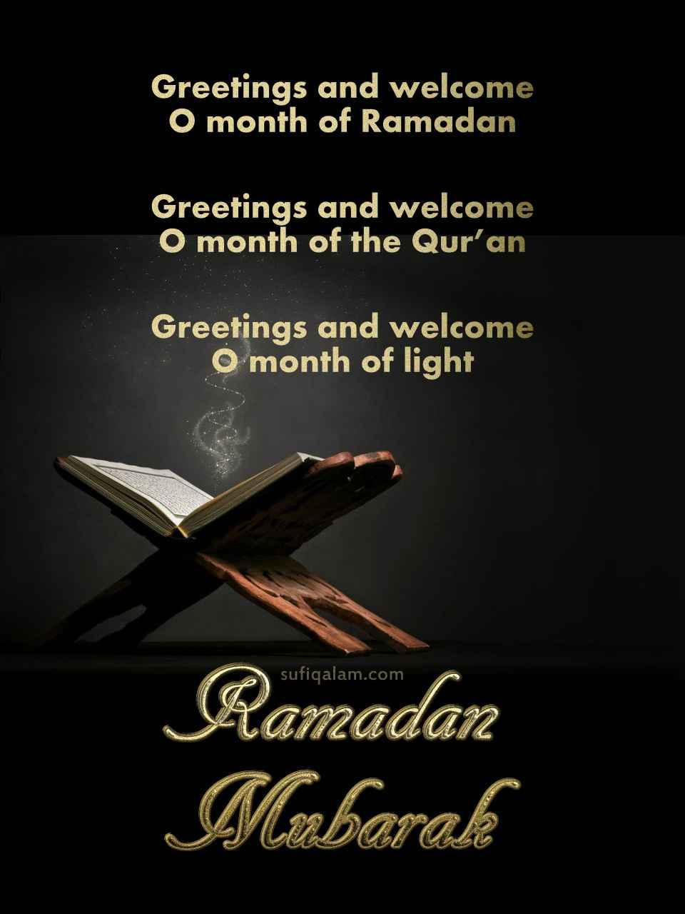 Ramadan Mubarak Quran Light Greetings