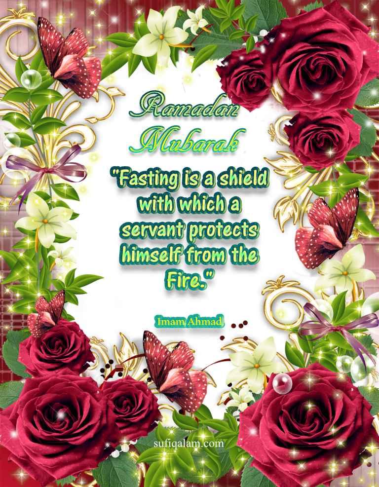 Ramadan Mubarak Quotes Images Flowers Hadith Greetings