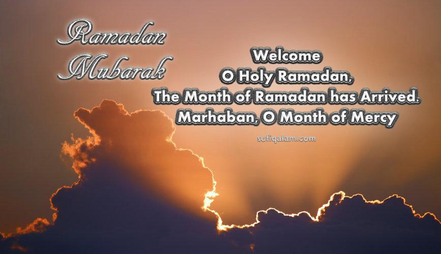 Ramadan Mubarak Welcome Greetings